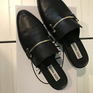 0faec943e7d Steve Madden Womens Laaura Black Leather Mules